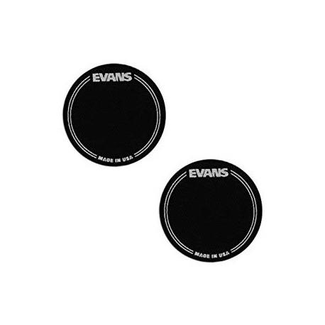 REFUERZO DE BOMBO EVANS, PATCH BLACK, EQPB1, 2 PIEZAS