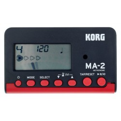 METRÓNOMO DIGITAL KORK MA-2, COLOR NEGRO/ROJO