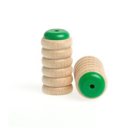 SCRAPY SHAKER-CASCABEL, LOW/GREEN, ROHEMA, 65 mm DE LONGITUD, 32 mm DE DIÁMETRO